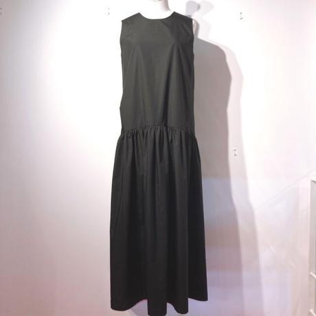 LES YEUX REVERSIBLE DRESS  BLACK×LIGHT GREY PINK