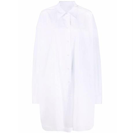 MAISON MRGIELA OVERSIZE SHIRT DRESS WHITE