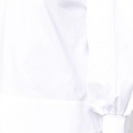 VVB BLOUSON SHIRT SLEEVE TOP WHITE