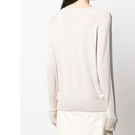 CO  7108TSY-SU21 V NECK KNIT    IVORY