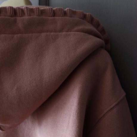 ATLANTIQUE ASCOLI HOODED ZIP SWEATBLOUSE ROSE