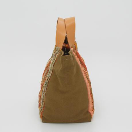 四角いバッグ オレンジ
