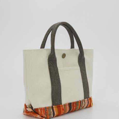 彩き織トートバッグ オレンジ