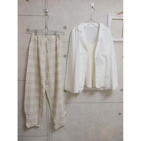 受注発注【8月末〜9月上旬発送】 organic cotton shirt ホワイト