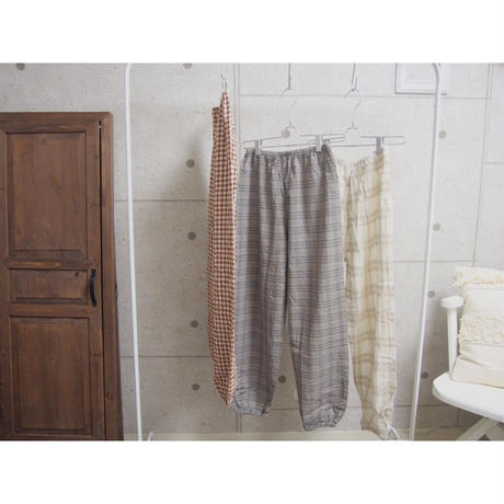 受注発注【8月末〜9月上旬発送】check room pants グレンチェック
