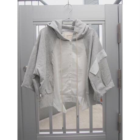五分袖ver【4月上旬発送予定】無機質の中のぬくもりパーカー gray