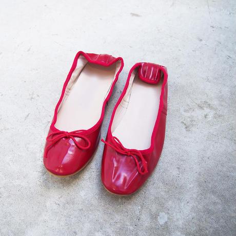 受注発注【8月末〜9月上旬発送】ballet shoes 赤