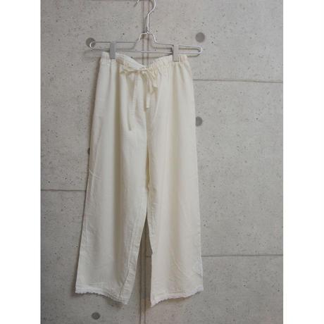 受注発注【8月末〜9月上旬発送】cotton room pants 生成り