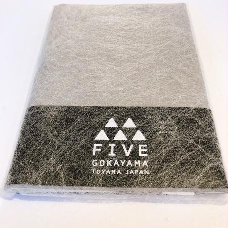 FIVE ブックカバー C グレー×ホワイト