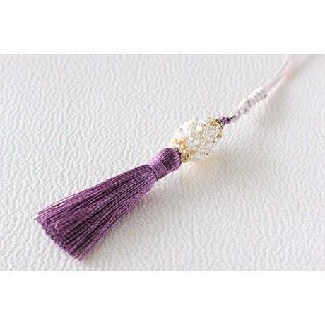 帯飾り*棗(京紫)