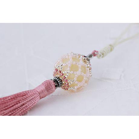 帯飾り*久寿玉(薄紅)