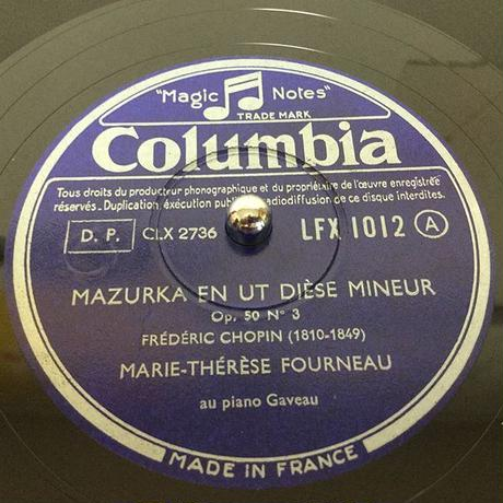 Marie-Thérèse Fourneau ~ French Columbia Complete 78rpm recordings
