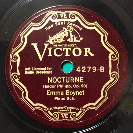 Emma Boynet plays French music ~ Victor & Schirmer 78rpm recordings エンマ・ボワネ「フランス音楽名演集」