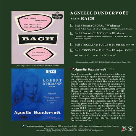 Agnelle Bundervoet plays BACH