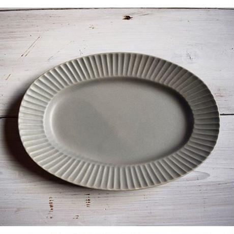 Sara Stripe Oval Plate