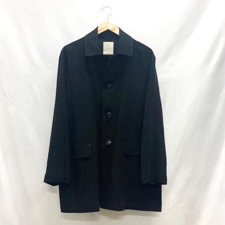 ステンカラージャケット リネン ブラック