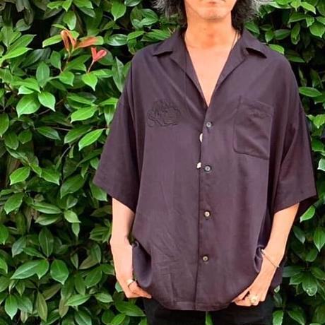 半袖開襟シャツ 刺繍あり
