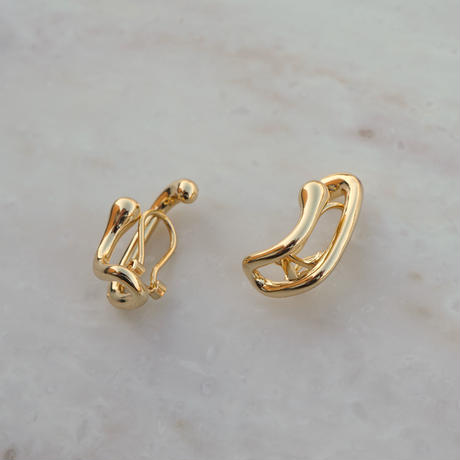 Double Clip Earring  (14K Gold Plated)