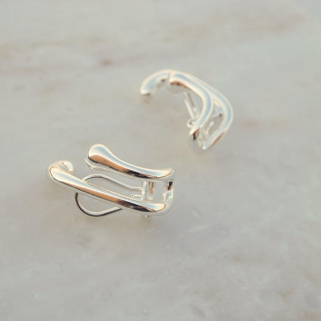 Double Clip Earring  (SV925 Plated)