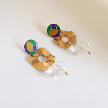 Clear × Brass Pierce