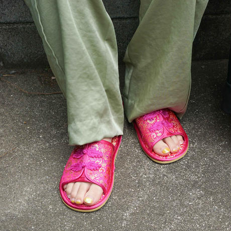 【Select Item】China Pattern Slippers -Pink-