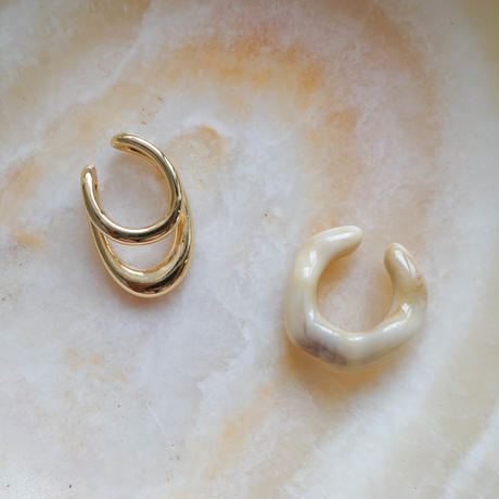 Earcuff Set -Light Beige-  (14K Gold Plated)