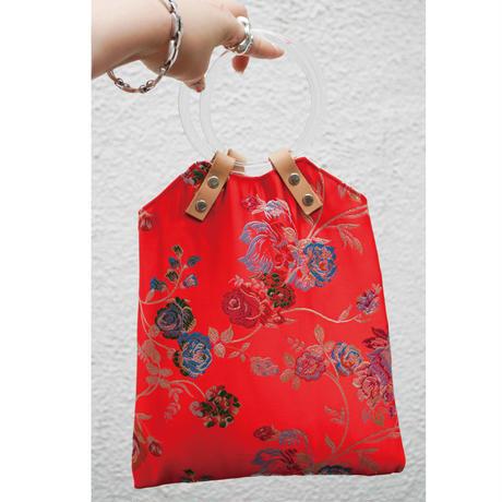 Chinoiserie Leather Handbag