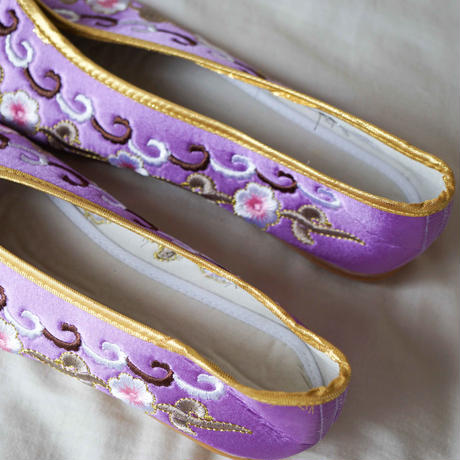 【Select Item】China Embroidery Shoes -Purple-
