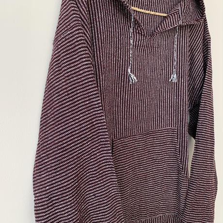 pips / cotton handwoven Mexican Parker / Brown / ピップス / メキシカンパーカー