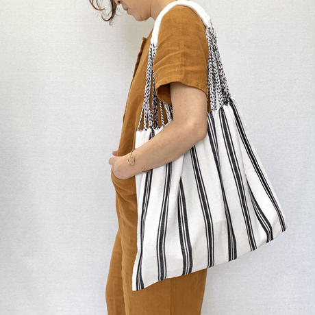 pips / cotton handwoven hammock bag / white / ピップス /ハンモックバッグ