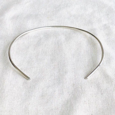 cinq / bauhaus  neck cuff  / sterling silver  / シンク /シルバーネックカフ