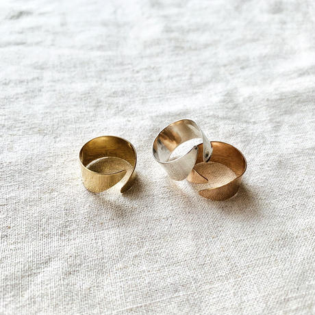cinq / Diagnal ring / gold filled , rose gold  filled , silver