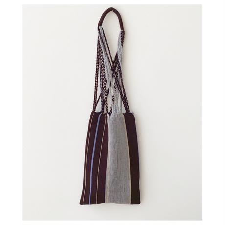 pips / cotton hand woven mini  hammock bag  / brown