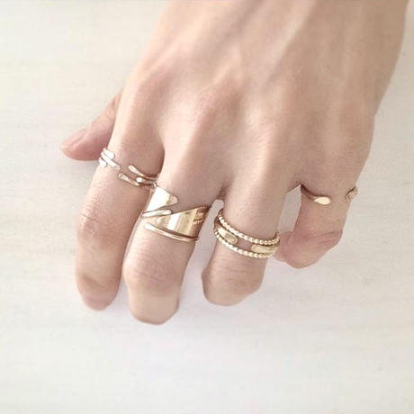 cinq / Diagnal ring / gold filled , rose gold  filled , silver  のコピー