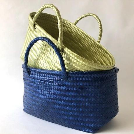 Cilantron / nylon mercado bag /Large size   / Blue  / Lime  / シラントロン / メルカドバッグ /