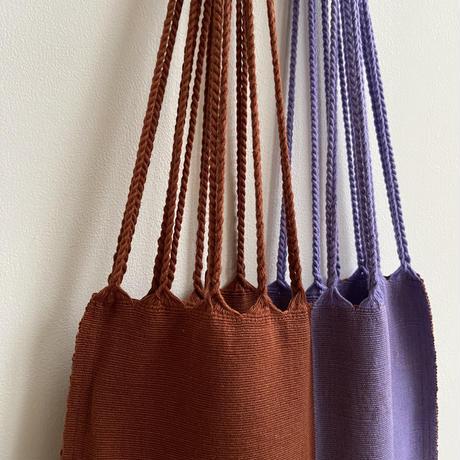 pips / cotton handwoven hammock bag / Lavender x Rust
