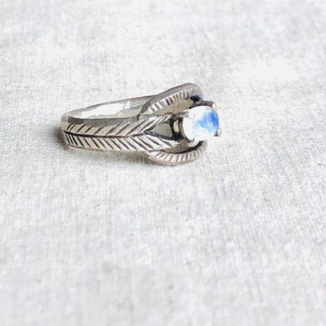 datter industry / moonstone deco ring / silver / ダッターインダストリー / 天然石リング /ムーンストーン