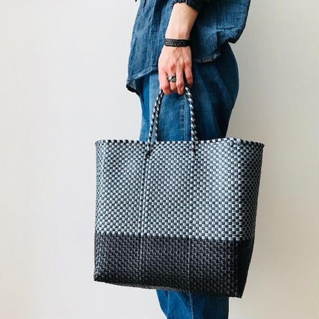 Cilantron / nylon mercado bag  /black  / silver   / シラントロン / メルカドバッグ