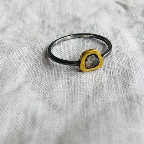 Ishi jewelry / diamond slice tiny  ring / イシジュエリー/ ダイアモンドスライスング / 9号サイズ