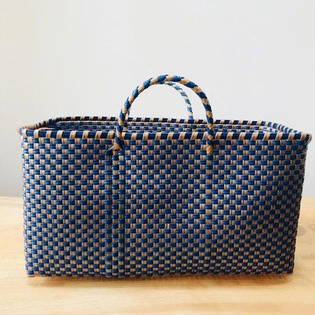 Cilantron / nylon mercado bag  / navy / gold / シラントロン / 横長メルカドバッグ