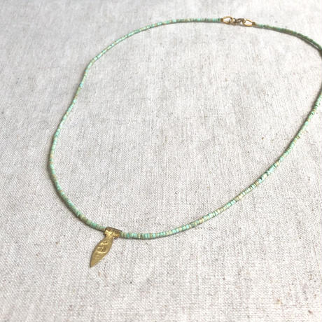 ishi  jewelry /tiny  turquoise bead chain with 18k gold plate / イシジュエリー / ターコイズビーズ ネックレス