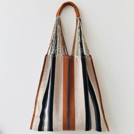 pips / cotton hand woven  hammock bag/ brown  / ピップス / コットン ハンモックバッグ