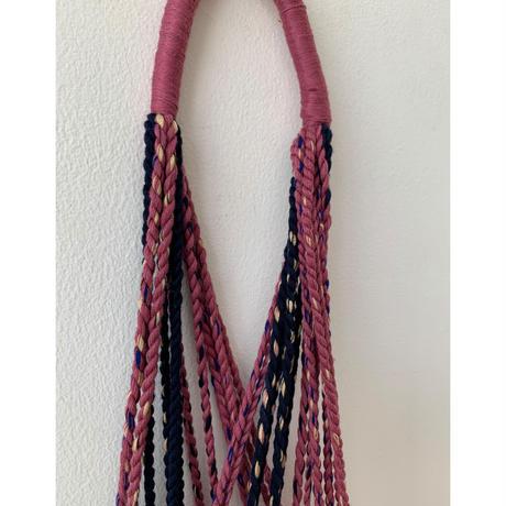 pips / cotton hand woven mini  hammock bag  /  strawberry