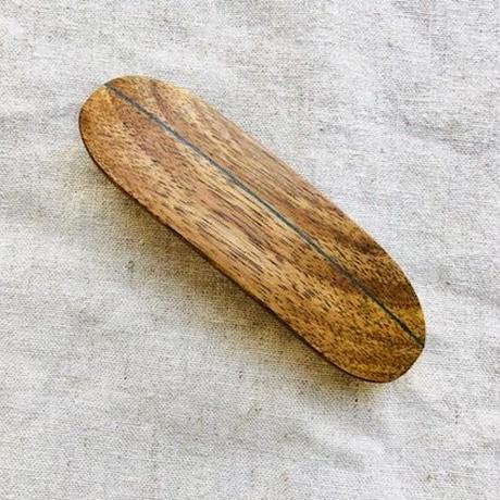 kostkamm /wood   hair baretta / 8cm/ コストカム/木製バレッタ/8cm