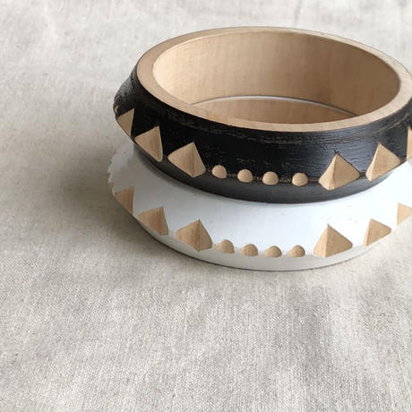 Hand carving wood bracelet from Oaxaca Mexico