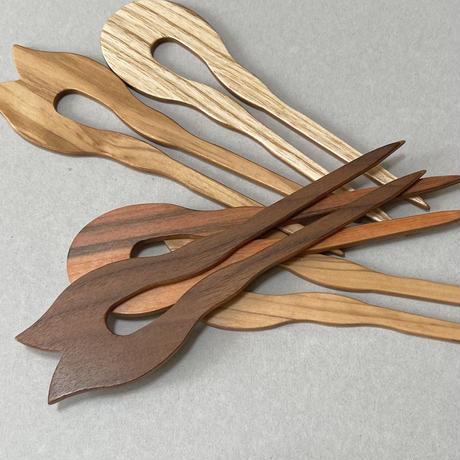 kostkamm / wood double stick / 2pin / small size   /   14cm