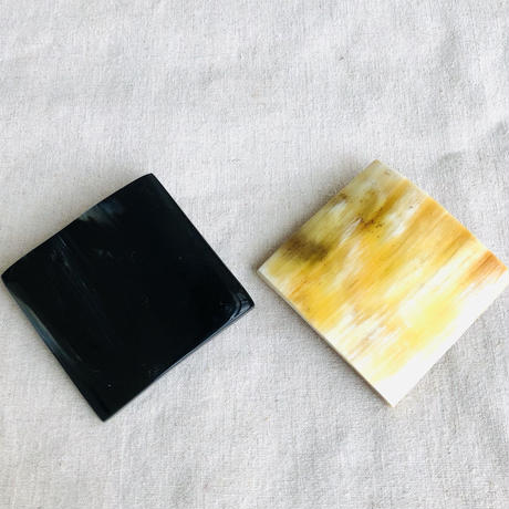 kostkamm / horn hair clip square  6cm / コストカム / 水牛角ヘアーバレッタ/ 四角6cm