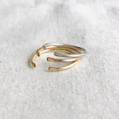 cinq / Clean ring / gold filled , rose gold filled
