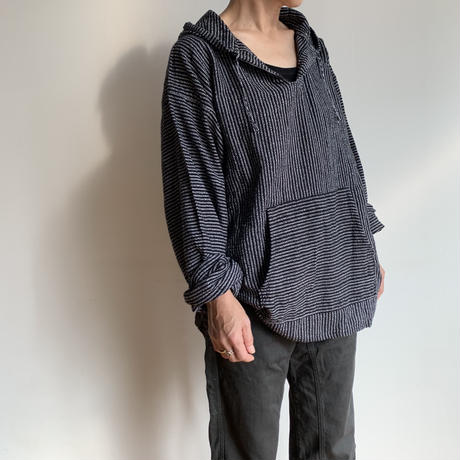 pips / cotton handwoven Mexican Parker / Black  / ピップス / メキシカンパーカー