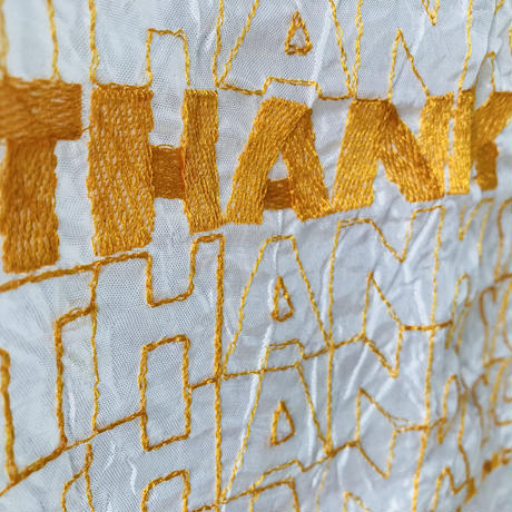 Lauren Dicioccio / thank you tote / yellow